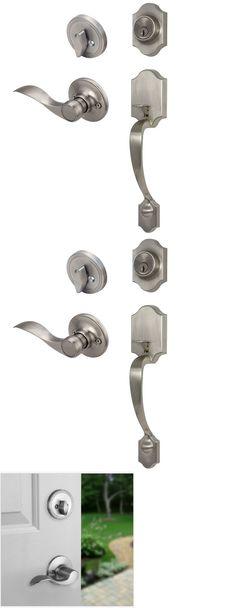 Front Entry Door Handles door knobs and levers 180964: flat round door knobs entry keyed