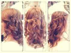 How to create the Waterfall braid:    1. Start with front pieces of your head    2. Begin to add new pieces with the French Braid method (going around the head, and cascading down)    3. Each time doing this dropping the bottom piece    4. Continue as far around the head as you would like    5. End by pinning the end of the braid in place    We love the Waterfall braid. It is so complex and so unique, and is perfect for any bride to wear for their beach wedding.