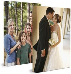 Zazzle.com Wrapped Canvas Prints... I ordered our wedding vows over top of two of my favorite wedding pictures for my husband for Christmas. They came out beautifully, arrived quickly, and were very reasonably priced. Hassle free!!