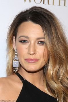 Gorgeous Blake Lively with long ombre soft waves hairstyle at the L'Oreal Paris' 9th Annual Women Of Worth Celebration (December 2014). #blakelively