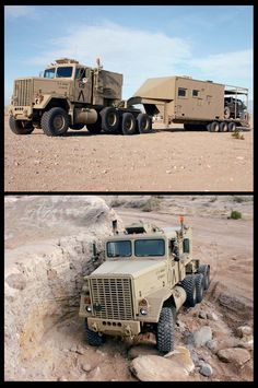Custom M920 Turned into an RV by Desert Storm Vet. Built by the creator of the Scorpion 4x4, Weighing in at 75,000 pounds (37 tons)... source link ... http://www.fourwheeler.com/project-vehicles/129-0505-1980-am-general-m920-8x8/