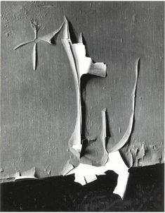 Minor White, Peeled Paint, Rochester, 1959.  The texture and line of the paint peeling makes this image really interesting, it makes me wonder where it was and was colour the paint originally was. The form of the white underside of the paint, the grey wall and dark floor make this a coherent image.