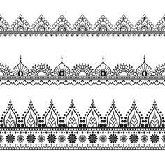 Find Mehndi, Indian Henna tattoo seamless pattern, design elements Stock Images in HD and millions of other royalty-free stock photos, illustrations, and vectors in the Shutterstock collection. Tattoos Mandalas, Mandala Arm Tattoo, Mandala Drawing, Indian Patterns, Henna Patterns, Zentangle Patterns, Zentangles, Henna Tattoo Designs, Henna Indiana