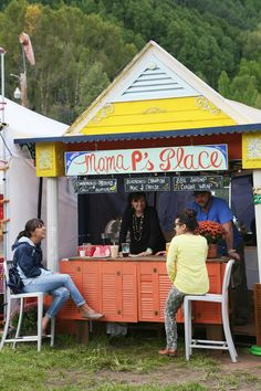 Mama P's Place, food stand at The Telluride Blues & Brews Festival. I wanted the charbroiled oysters with chili butter, but I opted out beca...