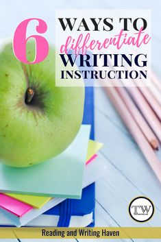 6 ways to differentiate writing instruction in middle and high school Differentiated Instruction Strategies, Writing Strategies, Writing Lessons, Teaching Writing, Teaching English, Teaching Themes, English Teachers, Writing Lab, English Classroom