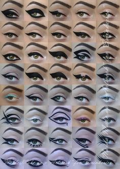 I didn't realise there were this many Eyeliner styles!
