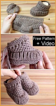 Freie strickmuster knitting patterns knit warm baby booties free knitting pattern + video knitting pattern baby booties free freiestrickmuster knit knitting pattern patterns video warm how to knit fruit citrus slices with free pattern + video Baby Booties Knitting Pattern, Crochet Baby Booties, Knit Crochet, Crochet Hats, Free Crochet, Knitted Baby Boots, Knit Baby Shoes, Knitted Booties, Knit For Baby