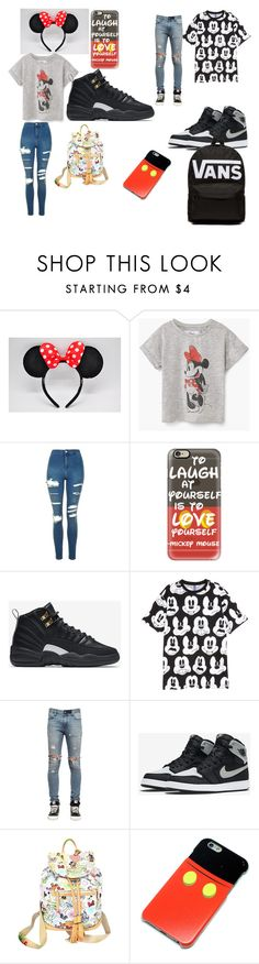 """""""Untitled #28"""" by asya-childress on Polyvore featuring Topshop, Casetify, NIKE, H&M, RtA, Dooney & Bourke and Vans"""