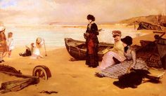 Vicente Palmaroli Gonzalez - A Summers Afternoon At The Beach