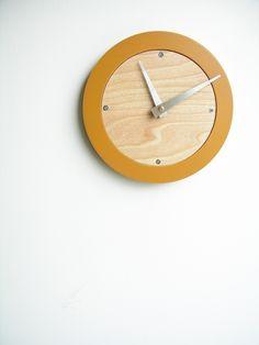 saffron modern wall clock