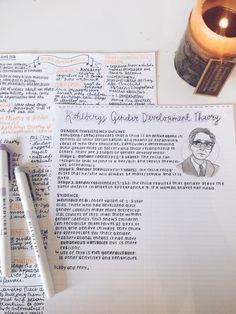 studysthetics rewriting my class notes for psychology since I've gotta write an essay soon