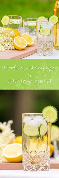 Elderflower champagne recipe: 4 Simple Ingredients and you have elderflower champagne, what's not to like. The core ingredient is free and the rest of the ingredients are store cupboard vavourites! Fruit Drinks, Yummy Drinks, Beverages, Detox Drinks, Cocktail Drinks, Cocktail Recipes, Cocktails, Drink Recipes, Elderflower Champagne