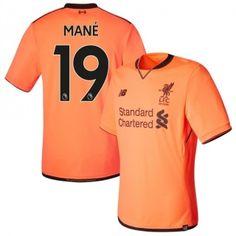 c471abd6ad7 2017 18 The Reds Sadio Mane 19 Orange Third Soccer Jersey Football Shirt  Trikot Maglia Playera De Futbol Camiseta De Futbol