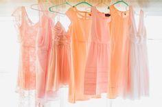 I'm still swooning over these peach bridesmaids dresses!!!  #fairystonewedding #peachdress