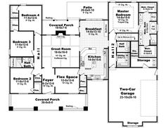 Country style house plans  Country style houses and Monster house    Bungalow Style House Plans   Square Foot Home   Story  Bedroom and
