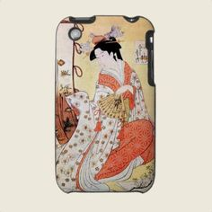 Cool Oriental Japanese Geisha Fan art Iphone 3 Covers by TheGreatestTattooArt