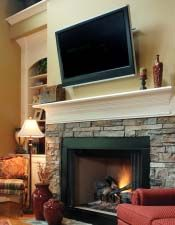 Fireplace/ TV built in