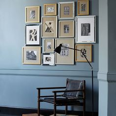 gallery frames gold leaf west elm