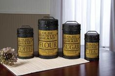 Olde Country Food Safe Canisters Set of 4 >>> Find out more about the great product at the image link.