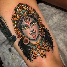 What does kali tattoo mean? We have kali tattoo ideas, designs, symbolism and we explain the meaning behind the tattoo. Kali Tattoo, Backpiece Tattoo, Shiva Tattoo Design, Ganesha Tattoo Sleeve, Buddhist Symbol Tattoos, Hindu Tattoos, Retro Tattoos, Tattoo Life, Gott Tattoos