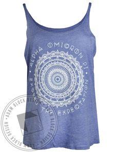 Alpha Omicron Pi Exceed The Expectations Tank by Adam Block Design | Custom Greek Apparel & Sorority Clothes | www.adamblockdesign.com