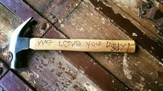 Father's Day Sale!  personalized wood burned hammer with free shipping by Father's Day! by AWhimsicleLove on Etsy