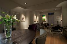 Victorian Townhouse interior re-modelling and opening out to form a stunning open plan Lounge and Dining Room with new feature fire line and bespoke built-in storage unit.