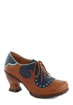 John Fluevog Academia Nut Heel. Much like your schoolwork, your unique wardrobe gets top marks from colleagues, classmates, and campus fashionistas. #brown #modcloth