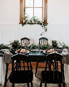 An intimate elopement dinner.  Just what we need these days! Spring In The Valley  featuring @albertaweddingsocial  vendors  Photography @greylilyphotography  Creative director styling  rentals @orangetrunk  Venue @watervalleychurchevents  Florals @adventurefloral  HMUA @avebeauty  @hairandmakeupbyrobin_  Styling kit @curatedkits  Caterer @devourcateringyyc  Jewelry @apostle_boutique  Cake  Cookies @bakemydayyyc  Video @lauraanncinema  Calligraphy @mountaingrovestudio  And other amazing… Cake Cookies, Creative Director, Vintage Furniture, Florals, Trunks, Table Settings, Calligraphy, Kit, Boutique