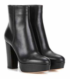 Temple leather platform ankle boots | Gianvito Rossi