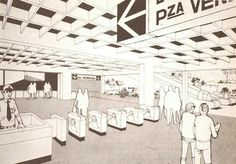 """Boceto del metro de caracas """"plaza Venezuela"""""""