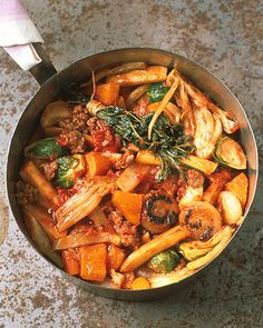 This is a great stew that is very filling and packed full of yummy veggies.