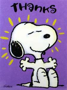 Thanks by Snoopy