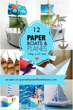 12 Kids DIY Paper Boats and Planes - Literally hours of fun!