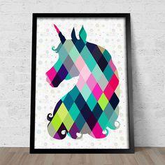 Poster Unicorn - Comprar em Encadreé Posters