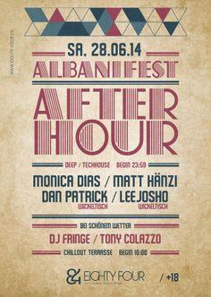 Albanifest After Hour eightyFour 84 #flyer #design