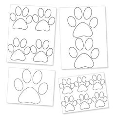 Printable Paw Template - Dog Paw Prints - Printable Treats
