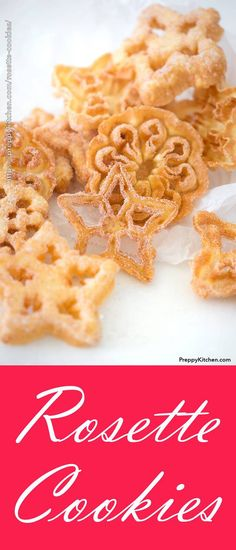 Easy, Simple Swedish Rosette Cookies with powdered sugar and cinnamon - A step-by-step process of making these Scandinavian rosette cookies. Rosettes Cookie Recipe, Rosette Recipe, Rosette Cookies, Cake Cookies, Cupcakes, Cookie Desserts, Easy Desserts, Cookie Recipes, Delicious Desserts