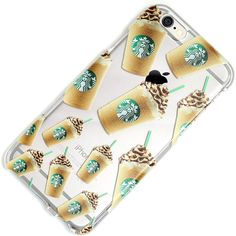 Starbucks Drink Clear Case iPhone 6, 6 Plus, 6S, 5, 5C, 5S, Galaxy S5,... ❤ liked on Polyvore featuring accessories, tech accessories, phone cases and cases