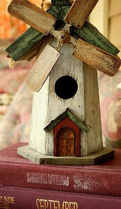 Things I Love windmill birdhouse so cute