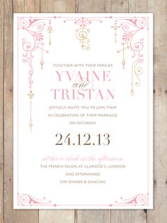 Wedding Invitation, simple with a little design