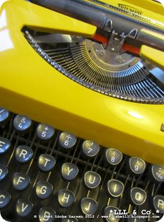 Good ol' YELLOW typewriter (transportable)... Sweet memories!