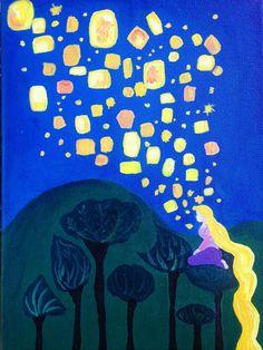 Linterna de Rapunzel pintando a mano por forloveandtrinkets en Etsy Easy Canvas Art, Simple Canvas Paintings, Small Canvas Art, Cute Paintings, Mini Canvas Art, Portrait Paintings, Abstract Portrait, Diy Canvas, Acrylic Paintings