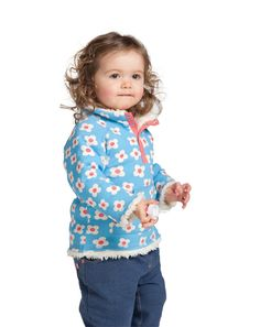 Baby Reversible Snuggle Fleece - Daisy Pop-£28
