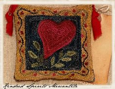 needle punch primitive heart