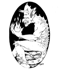 Barbed devil, denizen of the third and fourth planes of Hell (Dave Trampier, AD&D Monster Manual, TSR, Dungeons And Dragons Art, Advanced Dungeons And Dragons, Pen And Paper Games, Classic Rpg, Dungeon Master's Guide, Sci Fi Art, Geek Culture, Cool Drawings, Cover Art