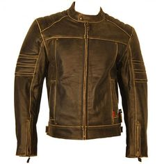 Handmade brown Leather Jacket men leather jacket by Besteshop, $149.99