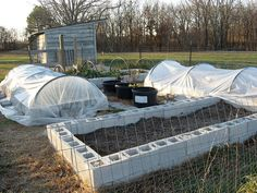Cinder block raised bed.  I cannot believe that I just watched a video on this and  plan to add it to my garden area this spring!