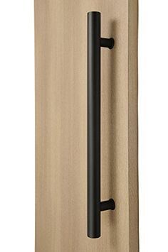 STRONGAR Modern & Contemporary Round Bar/Ladder/H-shape Style Inches Push-pull Stainless-steel Door Handle - Matte Black Powder Finish Sliding Door Handles, Barn Door Handles, Door Pull Handles, Barn Door Hardware, Sliding Doors, Door Pulls, Door Hinges, The Doors, Entry Doors