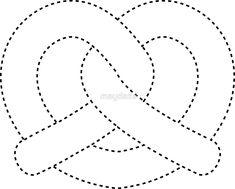 pretzel cut out by maydaze